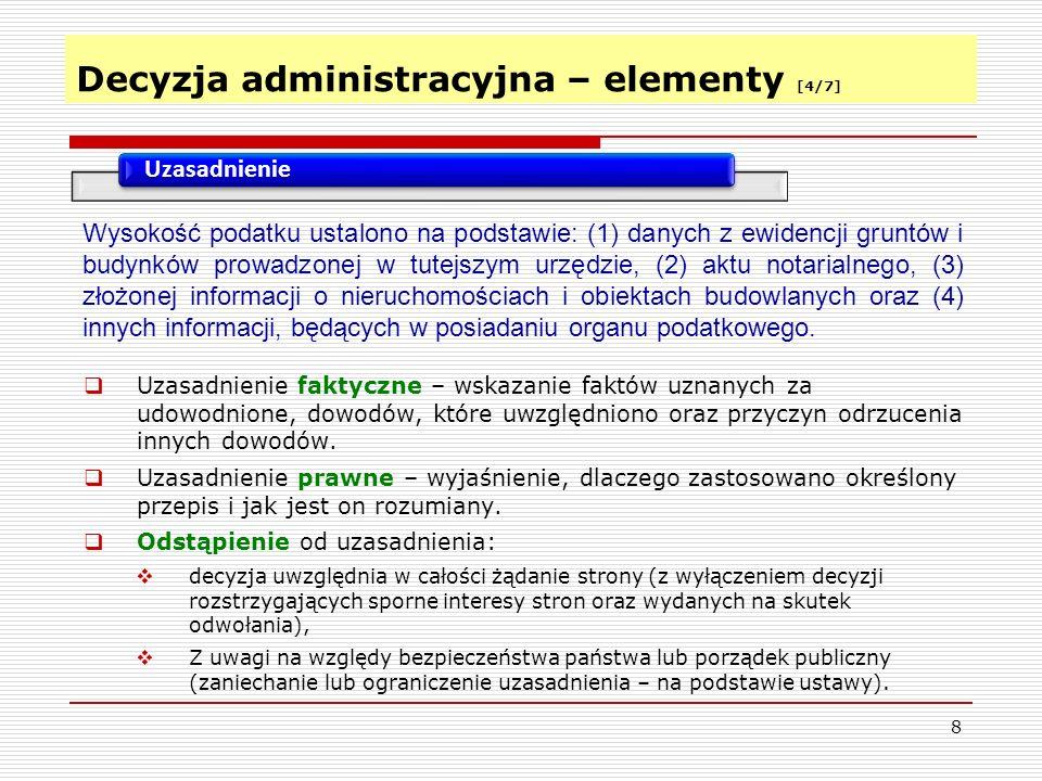 Decyzja administracyjna – elementy [4/7]